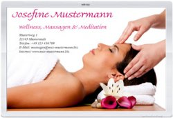 Massage Wellness Praxis - Webvisitenkarte